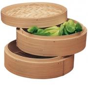 бамбуковая пароварка новая,  в упаковке,  диаметр 15 см