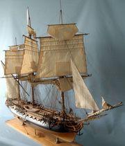Модель  30-пушечного фрегата La BELLE POULE ,  1765 года