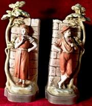 Старинные вазы-кашпо Свидание, пара