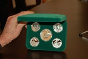 Набор монет футбол Евро 2012 серебро 5 штук