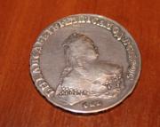 Монета Елизавета Петровна 1748 серебряный рубль