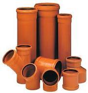 Трубы и фитинги для канализации ПВХ,  ПЭ,  ППР