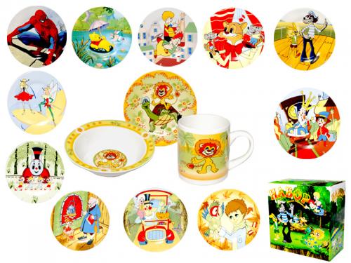 детские наборы и чашки в ассортименте