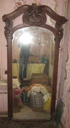 антикварное двухметровое зеркало