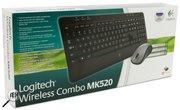 комплект Клавиатура + Мышь Logitech Cordless Desktop MK520