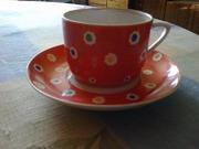 Чашка с блюдцем Производство Дулево 1951 год состояние отличное