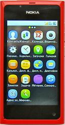Китайский телефон нокиа Nokia N9 3, 8 экран красный Wi-Fi, Bluetooth, WAP, Java и т.д. 12 мес. гар