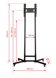 Напольная стойка для презентаций Квадо К-72