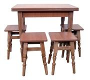 Кухонный комплект (стол + 4 табурета)