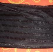 Продам отрез черной полупрозрачной ткани