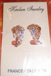 Продам новые сережки (с голубыми камнями)