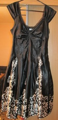Черно-белое платье размер 8-10