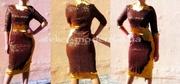 Коктейльное платье красивого желтого цвета