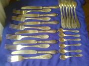 продам мельхиоровые ножи,  вилки советского периода