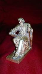 Бронзовая статуэтка Старец с книгой и мечом
