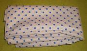 Недорого продам ткань: шелк (белый в синий горошек). В ретро стиле!