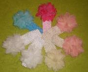 Продам новую детскую повязку для волос с воздушным нежным цветком!