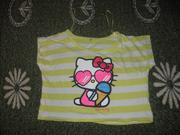 укороченная футболочка hello kitty на 6-7 лет