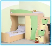 Кровать двухъярусная Саванна