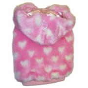Одежда для собак MonkeyDaze Розовое сердце (Pink Heart Faux Fur) шубка