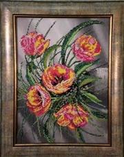 картина из бисера весенний букет