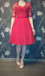 продам выпускное вечернее платье миди с корсетом