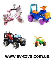 Детские велосипеды,  детские электромобили,  машинки-каталки Харьков