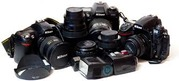 Куплю фотоаппараты, фотовспышки и осветители, объективы...нерабочие/раб.