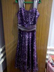 Выпускное фиолетовое платье