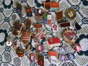 Продам коллекцию значков о Ленине времен СССР и другие.