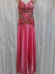 Выпускное платье кораловое