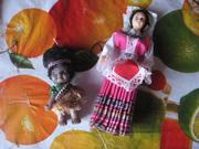 коллекционные куколки. рост 8 см и 17 см.
