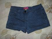 супер классные джинсовые шортики лео sophie на 14-15 лет,  можно меньше