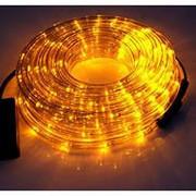 Светодиодный дюралайт LED 10м с контроллером желтый