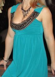 Платье темно-изумрудного цвета, вечернее, размер44