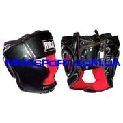Боксерские шлем ELAST с полной защитой (винил,  черный)299гр.
