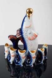 Продам фарфоровый набор  Рыбки