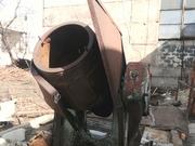 Галтовочный барабан на станине с редуктором