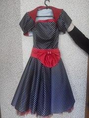 Выпускное платье в горошек