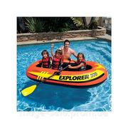 Надувная двухместная детская лодка интекс Intex 211x117x41см: весла,  н