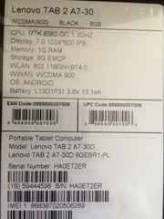 LENOVO TAB 2 A7-30 хороший планшет!!!