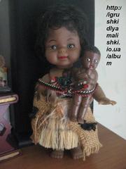 очень красивая коллекционная афро кукла с младенцем