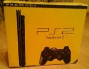 Игровая консоль. Sony Playstation 2 с дисками.