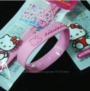 Браслеты силиконовые Hello Kitty от комаров набор 3 шт в наличии