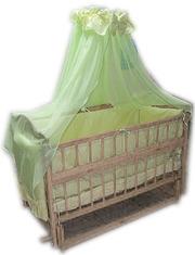 Акция! Комплект для сна! Кроватка маятник+ матрас + постель. Новое