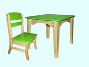 Комплект мебели детский комбинированный - столик+стульчик