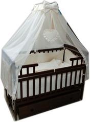 Акция! Комплект Элит: Кроватка маятник + ящик + матрас+постель 10 эл