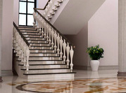 Гранитные,  мраморные полы и лестницы