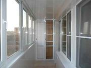 Обшивка вагонкой балконов в Харькове пластиковой,  деревянной,  МДФ и ме