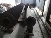 Труба стальная бесшовная толстостенная с фланцем,  R = 350 мм